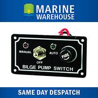 Bilge Pump Switch W/ LED Light Indicator - 3 Way Control Panel Marine 705107