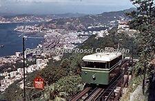 HK245 35mm Slide Cable Car, Mt Victoria Hong Kong Blue Border Color Transparancy