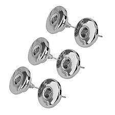 6pcs Silver Tone DIY Snap Button Piercing Earrings Ear Studs Jewelry Finding