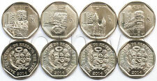 Peru 4 coins set Wealth and Pride of Peru 2014 UNC (#2650)