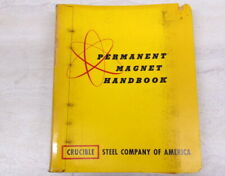 Permanent Magnet Handbook-Crucible Steel Co. Includes Theory, Specs, Design.