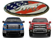 """9"""" American Flag Front Grill Emblem For 2004-2015 Ford F150 New Free Shipping"""