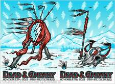 Dead & Company Broomfield Colorado 11/24 & 25 Posters Matching Number Set 1st ed