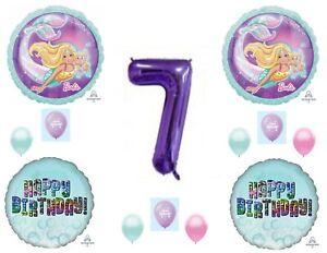 Barbie Mermaid 7th Happy Birthday Party Balloons Decoration Supplies Ocean