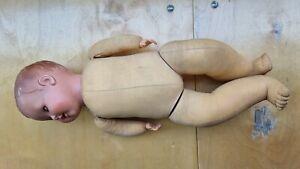 alte Schildkrötpuppe Strampelchen Größe 48,Kopf und Hände Celluloid,Körper Stoff
