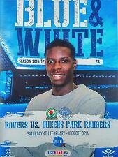 Blackburn Rovers v Queens Park Rangers Sky Bet Championship Mint Very Rare