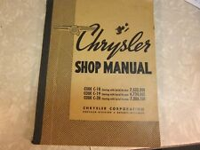 Original 1937 Chrysler Shop Manual Code C-18/19/20 Chrysler Corporation