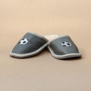 Kids Children Girls Boys Leather Slippers Sandals Home Shoes Kapcie Football