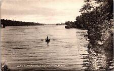 Rowboat on Lake Congamond, Southwick, Massachusetts Vintage Photo Postcard H23