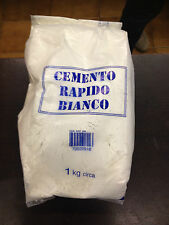CEMENTO RAPIDO BIANCO KG1 PER STAMPI ARTE CREATIVE HOBBY DECORAZIONI DECOUPAGE