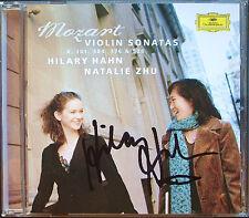 Hilary HAHN Signiert MOZART Violin Sonatas K301 304 Natalie ZHU CD Violinsonaten