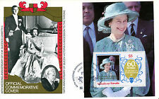 TUVALU NUKUFETAU 1987 QUEEN 40th WEDDING ANNIVERSARY $5 M/SHEET FIRST DAY COVER