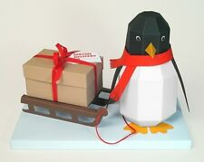 "A4 Card Making Templates - ""Pogo"" 3D Penguin & Display Box by Card Carousel"