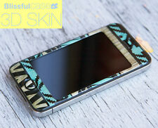 iPhone 4 4s CASE CUSTOM DESIGN WITH HIGH QUALTY 3D Gel skin with Aztec Mint
