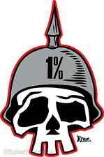 1% One Percent Sticker Decal by Artist Kruse RK2 Roth Like