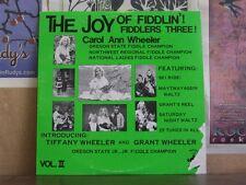 CAROL ANN WHEELER, JOY OF FIDDLIN VOL 2 -AUTOGRAPHED LP