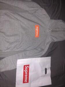 Supreme box logo hoodie Large grey