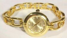 Women Cote D Azur Watch Gold Tone Bracelet Band Round Case Crystal Accent New