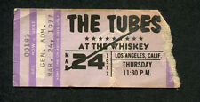 1977 The Tubes Whisky A Go Go concert ticket stub Los Angeles Talk To Ya Later