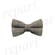 ZZBW247 Men/'s Scarlet Khaki Pattern Bowtie Knit Knitted Pre Tied Bow Tie Woven