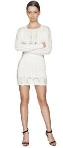BALMAIN - COTTON SWEATER DRESS FR40