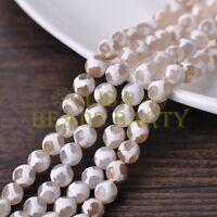1 Strand 39cm Length 46~48pcs 8mm Natural Stone Gemstone Craft Beads White