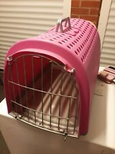 Large cat or pet box carrier pink