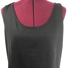 Chico's Size 3 Black Sleeveless Nylon Spandex Blend Tank Top Size Extra Large XL
