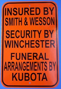 Warning sign John Deere Massey Ferguson Kubota Smith & Wesson Winchester fileS&W