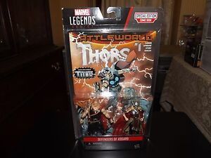 """MARVEL LEGENDS DEFENDERS OF ASGARD, ODINSON AND THOR 4.5"""" FIGURES, NIP, 2015"""
