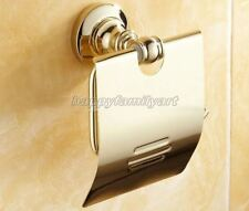 Polished Gold Color Brass Wall Mounted Bathroom Toilet Paper Holder yba105
