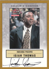 ISIAH THOMAS 2000-2001 Fleer Tradition PACERS PISTONS Auto LEGEND