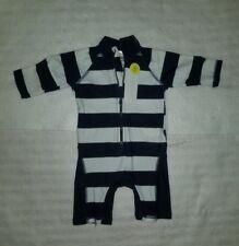 Vaenait Baby Infant Boys UPF+50 Swimwear Size Small Navy & White Striped