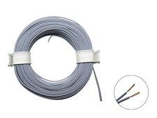 10m Ring Zwillingslitze 2x 0,08mm² grau / grau Litze zweiadrig Doppellitze