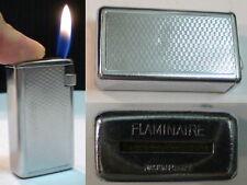 BRIQUET Ancien ** Flaminaire Quercia ** Vintage gas LIGHTER Feuerzeug Accendino