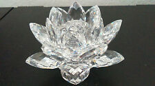 Swarovski Crystal Water Lily Candle Holders - Small