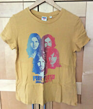 Junk Food PINK FLOYD Animals Tour '77 Womens Cotton Yellow Rock T-shirt NWT S