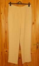 CHIANTI sand golden beige smart tailored office suit trousers BNWT 18 46