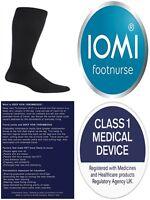 1 Pair IOMI 18 mmHg Graduated Compression Travel Flight Socks