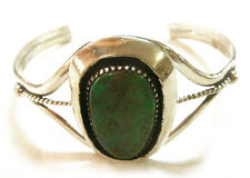 TAXCO .950 Sterling Silver Cuff Bracelet w/Turquoise Stone from Mexico