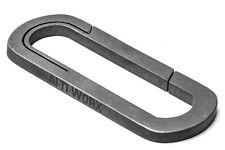 Altiworx Titanium Uniclip Carabiner Bead Blasted (50mm) 28315