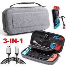 Für Nintendo Switch Schutz Hülle Tasche Hartschalen Case +Ladekabel+Glas Folie