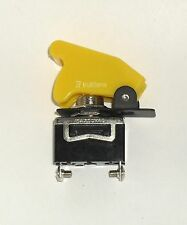 1 SPST On/Off Full Size Toggle Switch with Yellow Safety Cover
