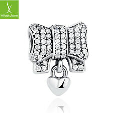 Authentic 925 Sterling Silver Knot Heart Fit Original Bracelets For Women Charms