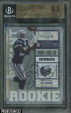 2010 Playoff Contenders Rookie Ticket Dez Bryant RC AUTO Blue Jersey BGS 9.5
