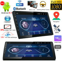 """10.1"""" Android 8.1 Double Din Car Stereo Bluetooth WiFi MP5 Player GPS Navigation"""