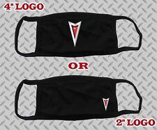 "Pontiac Face Mask Pontiac Logo Unisex Black White Cotton 4"" Or 2"""