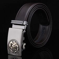 Dragon Automatic Buckle Designer Belts for Men Genuine Leather Belt Brown Waist
