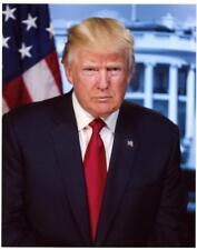8x10 Official White House Portrait President Donald Trump Kodak Photograph