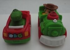 Fisher Price Little People DISNEY Wheelies TOY STORY WOODY & REX CHRISTMAS CARS